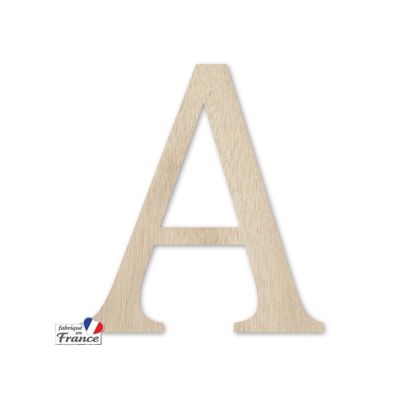 Lettre en bois extérieur - 15cm - Miris