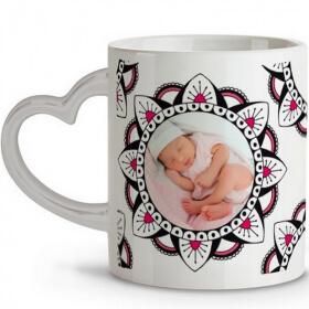 Mug personnalisable anse coeur - Em création