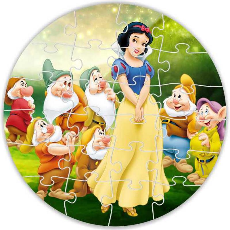 Puzzle rond personnalisable 24 pièces