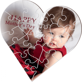 Puzzle personnalisé coeur - Em création