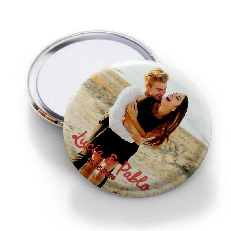 Miroir de poche personnalisé 8cm - Em création