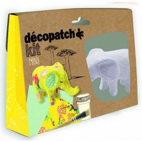 Mini-kit Eléphant - Décopatch - Loisirs créatifs