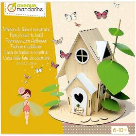 Maison de fées à construire - Boite créative - Loisirs créatifs - avenue mandarine - Em création
