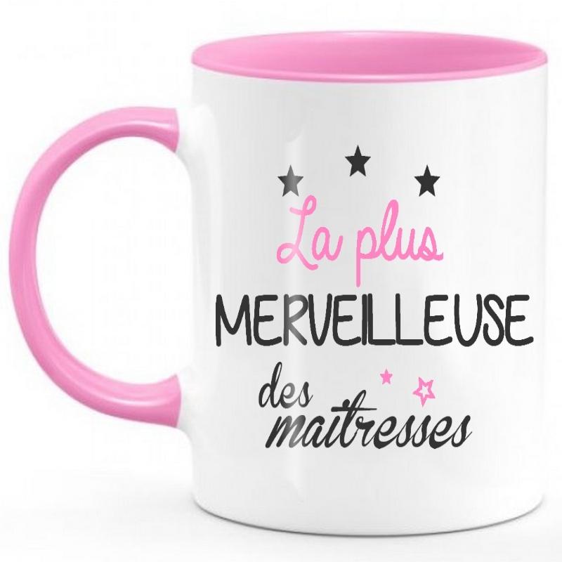 Mug Maîtresse - Tasse Maîtresse - Idées cadeaux enseignante - angora