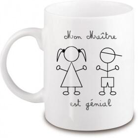 Mug Maître d'école - Idée cadeau - Em création - Em création