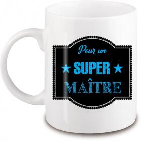 Mug super maître - Idée cadeau originale - angora - Em création