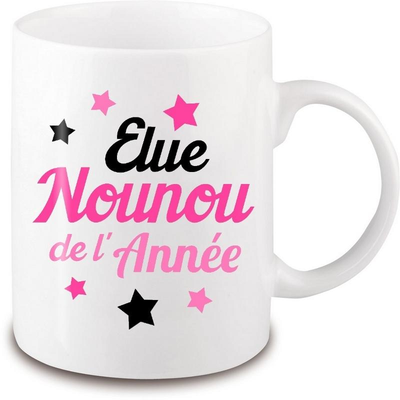Mug Nounou - Idée cadeau Nounou - Anniversaire - Fête - angora