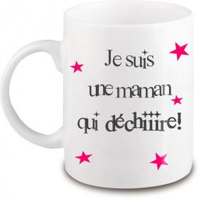 Mug Maman - Idée cadeau Maman - Anniversaire - Fête des mères - Tasse - angora - Em création