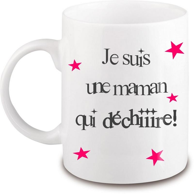 Mug Maman - Idée cadeau Maman - Anniversaire - Fête des mères - Tasse - angora