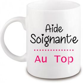 Mug Aide-Soignante - Cadeau Aide-Soignante - Angora - Em création