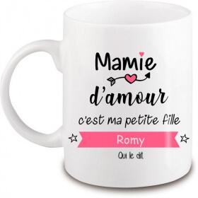 Mug Mamie personnalisé - Idée cadeau - angora - Em création