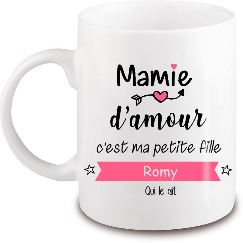 Mug Mamie personnalisé - Idée cadeau - angora