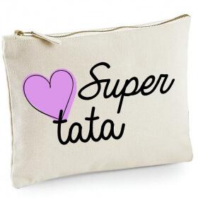 Pochette Tata - Idée cadeau - angora - Em création