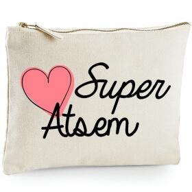Pochette Atsem - Traousse Atsem - Idée cadeau - angora - Em création