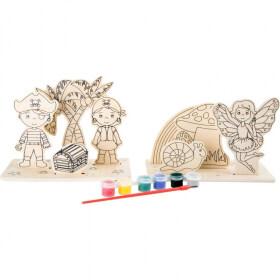 Pirates à décorer - Fées à décorer - En bois - Em création