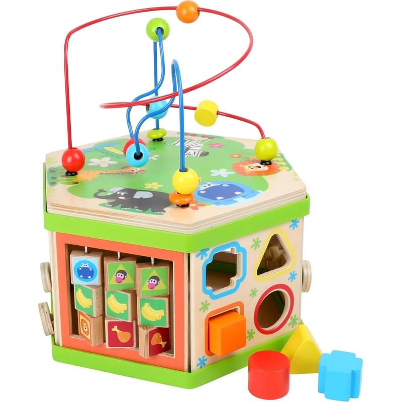 Hexagone d'activités - jouet de motricité fine pour enfant