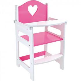 Chaise haute pour poupée - jouet en bois pour poupon - Em création