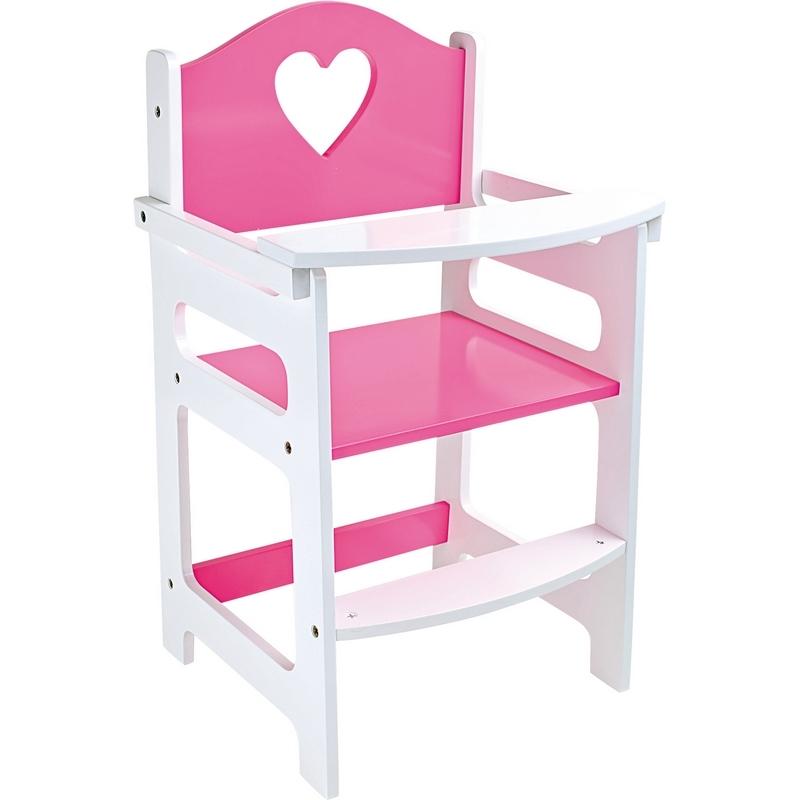 Chaise haute pour poupée - jouet en bois pour poupon