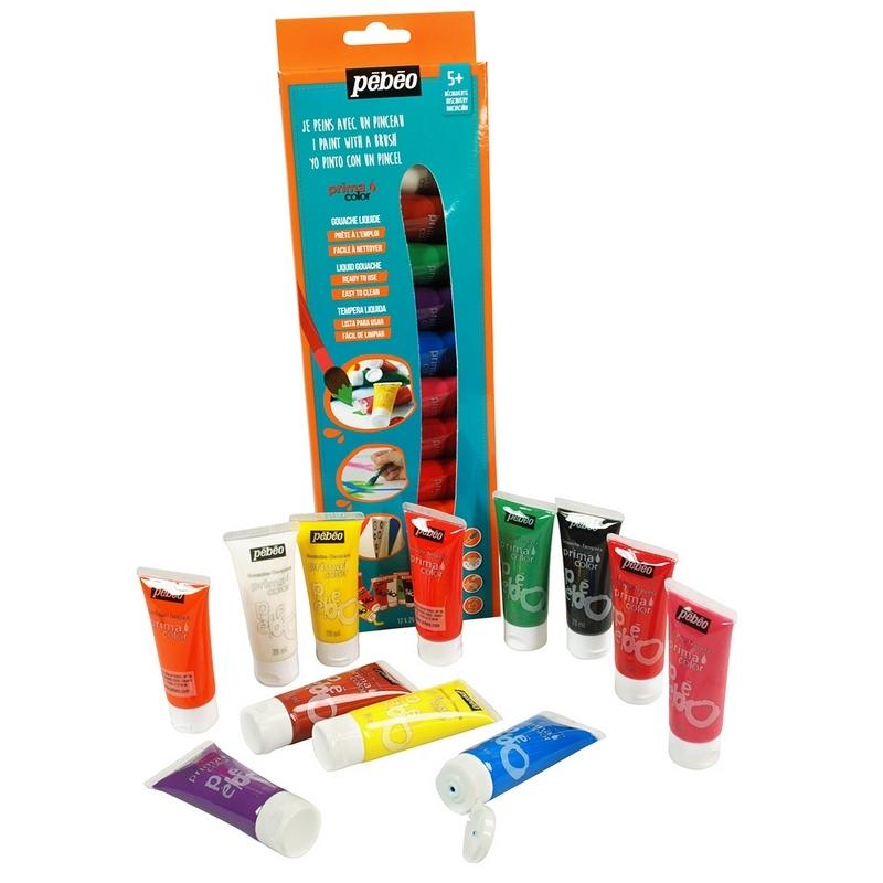 Pébéo Primacolor Kit découverte de peinture 12 tubes - Em création