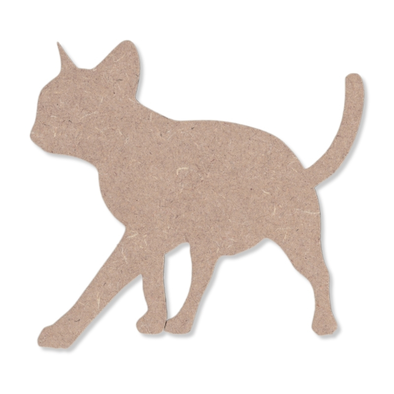 Support en bois à peindre chat - Em création