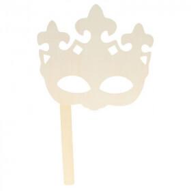 Masque en forme de couronne en bois - artemio - Em création