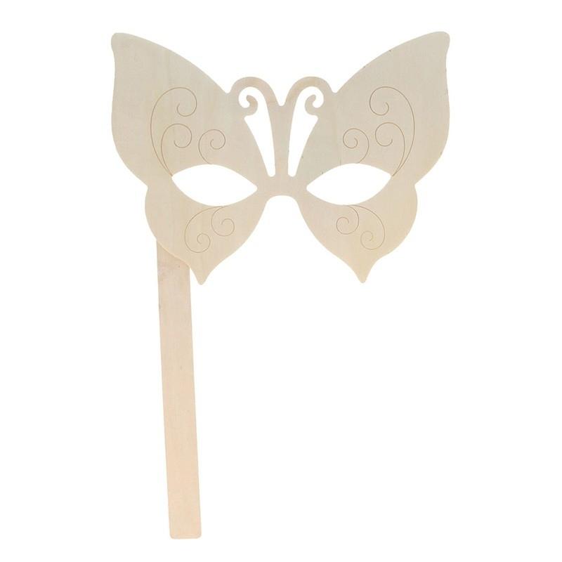 Masque en forme de papillon en bois - artemio