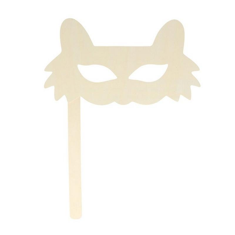 Masque en forme de chat en bois - artemio