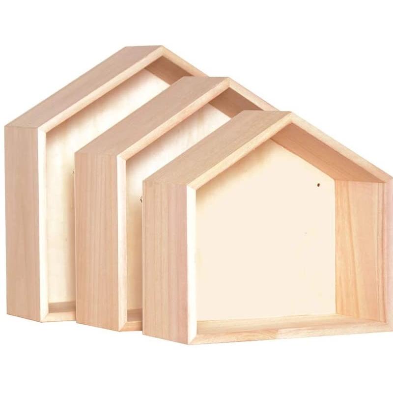 3 étagères de décoration en bois - Artemio