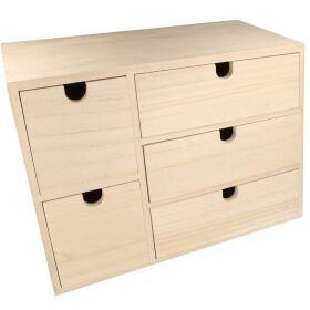 bloc 5 tiroir en bois Artemio - Em création