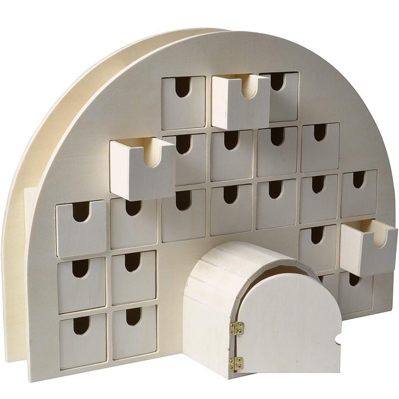 Calendrier de l'avent Igloo + 24 tiroirs