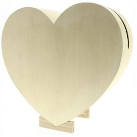 Urne forme de Coeur - Artemio - Urne mariage à décorer coeur - Em création