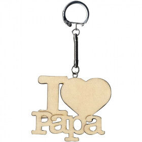 Porte clefs I Love Papa - Artemio - Em création