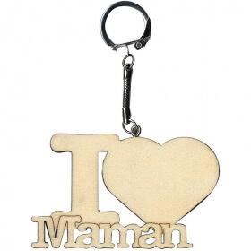 Porte clefs I Love Maman - Artemio - Em création