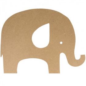 Éléphant à décorer en bois - Artemio - Em création