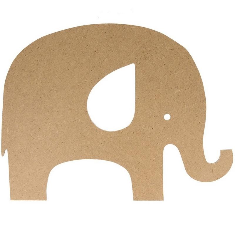 Éléphant à décorer en bois - Artemio