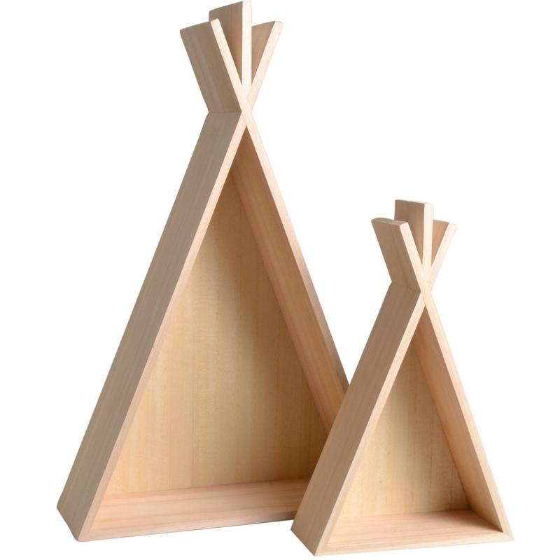 Etagères Tipi en bois - deco chambre d'enfant - Artemio