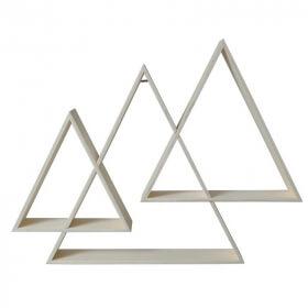 Etagères 3 triangles imbriquées - Artemio - Em création