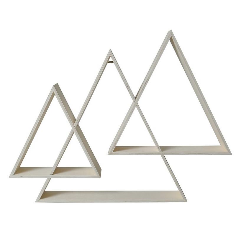 Etagères 3 triangles imbriquées - Artemio