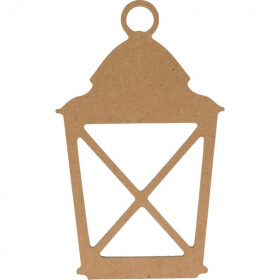 Lanterne à décorer - à peindre - En bois - Artemio - Em création