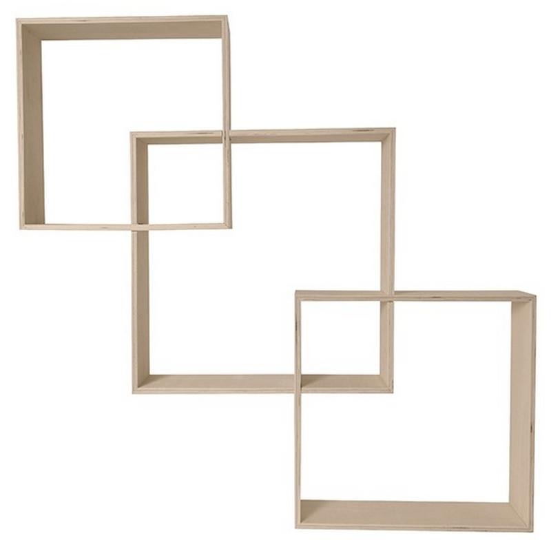 Etagères carrés imbriquer - Lot de 3