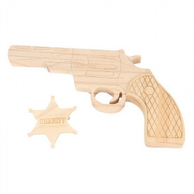 Pistolet + étoile de shériff pour enfant - Em création