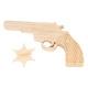 Pistolet + étoile de shérif