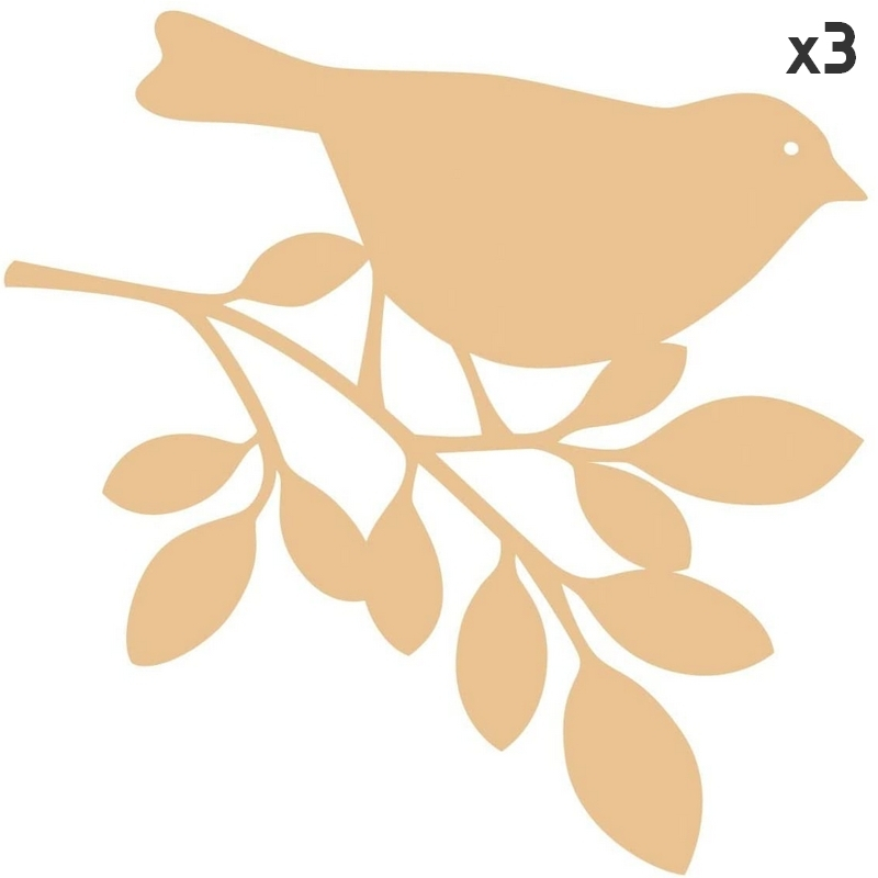 silhouettes oiseau à décorer en bois