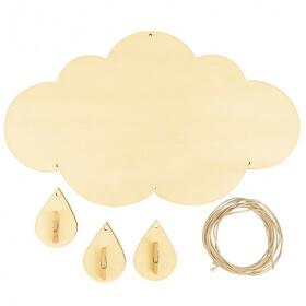 Porte-photo nuage en bois - Nuage à décorer