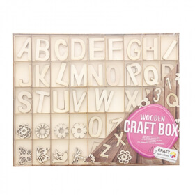 Alphabet en bois à décorer 132ps