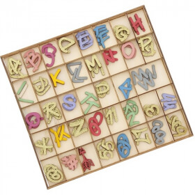 Lettres de l'alphabet décorées 117ps