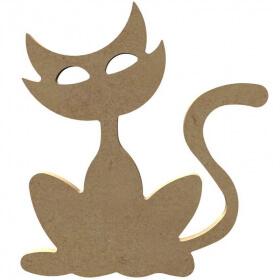 Chat à décorer - Gomille - Em création