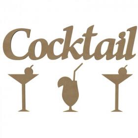 Mot Cocktail à décorer - Gomille - Em création