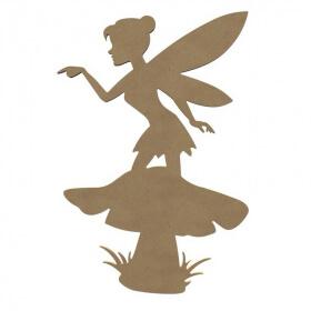 Fée champignon à décorer - Gomille