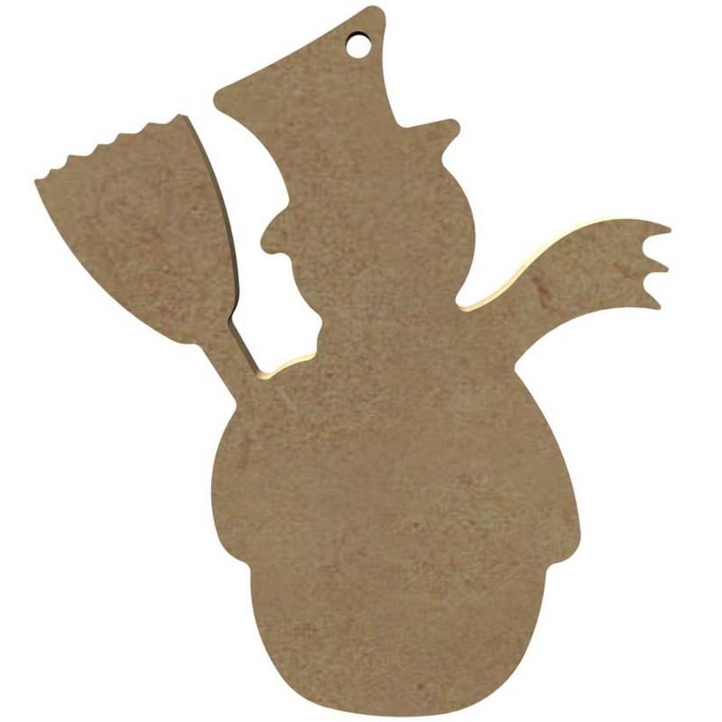 Bonhomme de neige à décorer - Gomille
